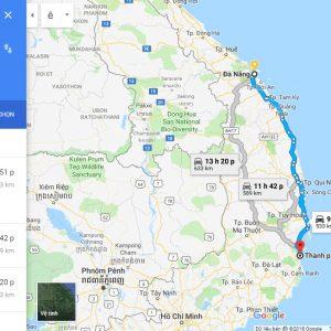 Đà Nẵng đi Nha Trang bao nhiêu Km?