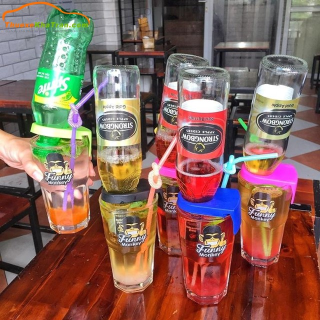 cách uống bia úp ngược